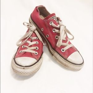 Converse Red Lowtop Sneakers Men's 3 / Women's 5